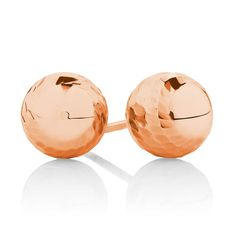 Perfect for every day wear, these stud earrings are crafted in rose gold, and patterned to catch the light. Rose Delivery, Silver Jewellery Online, Gift Suggestions, Jewelry Shop, Sterling Silver Jewelry, Gold Earrings, Rose Gold, Diamond, Pattern