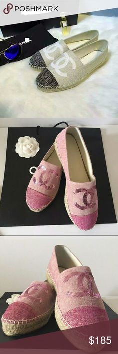 2016 CHANEL CRUISE CANVAS SHOE Too sumner seller! CHANEL CRUISE canvas shoes, beautiful and made with full grain leather!!     COMES WITH BOX/DUSTBAG  Visit my new store website today! Link in profile   www.prettyplease481.storenvy.com CHANEL Shoes Espadrilles