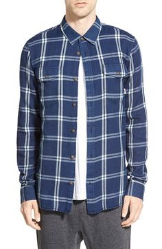 Vans 'Camden' Windowpane Check Cotton Flannel Shirt
