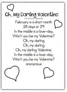 valentine song poem