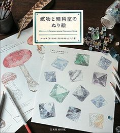 Mineral and Science Room Coloring Book Japan NEW