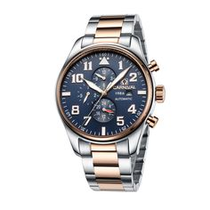 Leisure Automatic Mechanical Genuine leather Waterproof Watch with Rome Digital Business for Various Occasions carnival 8755