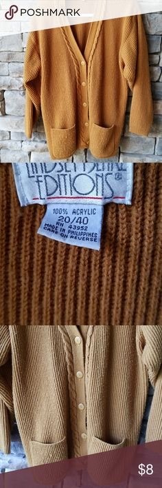 Used Sweater For Warm Weather This sweater is cozy warm. It has some picking on the front but lots of life left. Lindsey Blake Editions Sweaters Cardigans