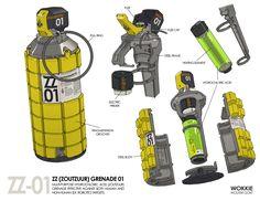 ZZ Grenade 01, Wouter Gort on ArtStation at https://www.artstation.com/artwork/zz-grenade-01