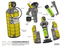 ZZ Grenade 01, Wouter Gort on ArtStation at https://www.artstation.com/artwork/zz-grenade-01