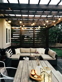 Our New Cedar Deck. You can make your home a lot more specific with backyard patio designs. You are able to turn your backyard into a state like your dreams. You won't have any trouble at this time with backyard patio ideas. Backyard Patio Designs, Pergola Patio, Pergola Kits, Outdoor Patios, Deck With Pergola, Pergula Deck, Cedar Pergola, Small Backyard Patio, Backyard Porch Ideas