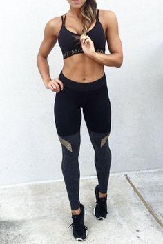 https://goo.gl/Dw8fUB #ootd #fitness 3fitspo #activewear #workout #gym Alo 'Coast' Mesh Inset Stirrup Leggings