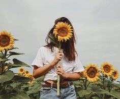 girl, sunflower, and aesthetic kép Sunflower Fields, Sunflower Pics, Sunflower Field Pictures, Yellow Sunflower, Mellow Yellow, Portrait Photography, Hipster Photography, Rain Photography, Friend Photography