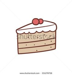 Cake Slice Isolated Stock Vectors & Vector Clip Art   Shutterstock
