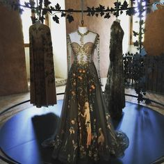 """The Gabinetto di Fernandino in Villa Medici is the first step of """"La Mostra Diffusa"""", an innovative curatorial concept, capable of highlighting Valentino's ties with Rome, which has always been the preferred source of inspiration of its creations.  The installation is composed of Haute Couture Fall/Winter 2012-13 """"Le Bois de Diane"""", Haute Couture Fall/Winter 2012-13 """"Arbre de vie"""", Haue Couture Spring/Summer 2013 """"Le Jardin d'Eden"""" @MaisonValentino #Valentino #MirabiliaRomae"""