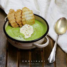 Polievka z medvedieho cesnaku - Coolinári Hummus, Tasty, Ethnic Recipes, Blog, Fitness, Homemade Hummus, Blogging, Keep Fit, Health Fitness