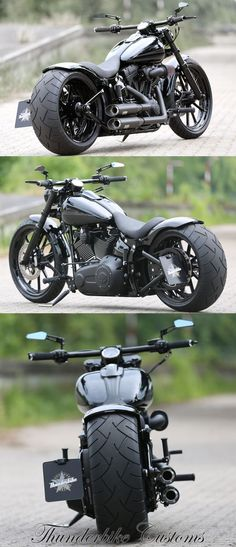Customs - Customized Harley-Davidson Softail Breakout by Thunderbike Customs (Germany)