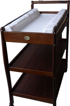 Amazon.com : Solid Pine Baby Diaper Change Table With 2 Shelves (chestnut)