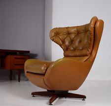 60er 70s Swivel U0026 Rocking EGG CHAIR Sessel Poltrona A 60 60s Fauteuil ...
