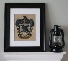 Ravenclaw Crest  Harry Potter Wall Art by AppalachianCharmVA