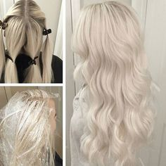 * Beautiful Frozen Blonde by @marcusbyerly Client wanted to go as super icy as…