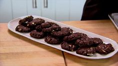 Kathleen King's Double Chocolate Almond Cookies Recipe : Ina Garten : Food Network  You will not be disappointed! These are a crowd pleaser!