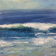 wave painting by Whitney Heavey Seascape Paintings, 30 Day, Collage, Abstract Art, Hold On, Fine Art, Contemporary, Inspiration, Outdoor