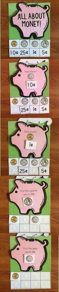 Help a child learn more about money! All About Money Adapted Book to work on coin identification and how much each coin is worth! Great for students with special needs. Life Skills Classroom, Autism Classroom, Classroom Activities, Classroom Ideas, Money Activities, Math Resources, Money Games, Teaching Money, Teaching Math