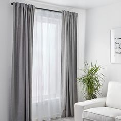 Elegant Living Room Curtains Ikea Elegant Living Room Curtains Ikea - Buying curtains can be an overwhelming process. You have to concentrate on everything from the fabric to the lengt. Grey Curtains Bedroom, Grey And White Curtains, Curtains Living, Blue Bedroom, Curtains With Blinds, Modern Net Curtains, Bedroom Decor, Blackout Curtains, Windows