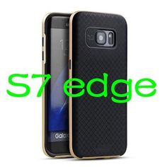 IPAKY Brand For Samsung Galaxy S7 edge Case S6 Edge plus Cover TPU+ PC Frame Slim Back Cover Original Phone Cases For Samsung S7