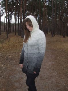 The knitted sweater cardigan Grey by TaniaSh on Etsy, $180.00