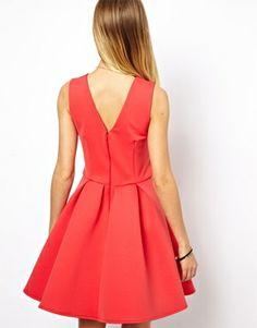 Image 2 ofASOS Skater Dress In Bonded Fabric