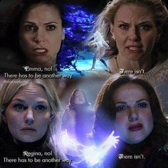 Awesome Regina and Emma (Lana and Jen) doing awesome magic Once S4