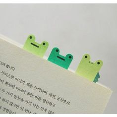 Smile sticky memo notes bookmark tabs - frog by JSTORY. Frog bookmark tab will bring a smile to your face as they draw your attention to a page you have saved. Korean Stationery, Kawaii Stationery, Cute Frogs, Frog And Toad, Doodles, School Supplies, Office Supplies, Classroom Supplies, Bookmarks
