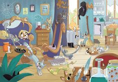 Jeu : Combien de chats ? Game : How many cats ?  by Libou