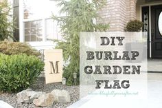 How to Make a Flag {for the garden} - Blissfully Ever After