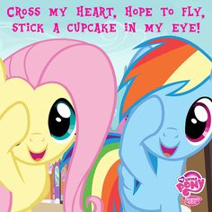 Pinkie Promise, I make my friends do this all the time, I swear, I don't even use my finger way I use Pinkie pie's way now