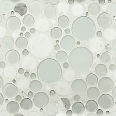 White Effervescence Stone & Glass Mosaic tile, funky yet neutral