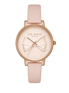 Buy Navy/Grey Ted Baker Women's Brook Bow Detail Leather Strap Watch from our Women's Watches range at John Lewis & Partners. Free Delivery on orders over Ted Baker Uhren, Ted Baker Watches, Bow Jewelry, Fashion Jewelry, Leather Jewelry, Jewlery, Ted Baker Womens, Ladies Of London, Gold Leather