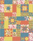 Easy Peasy Quilt Pattern QN-003e (instant download)  Note: This was a Mystery Weekend Pattern and can be made with just a 5 yard bundle of fabric