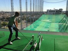 Aroma Golf Range. Practice your swing in Koreatown. They have multiple levels and automatic tees.
