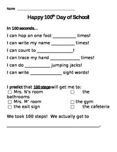 100th Day of School! In 100 seconds....