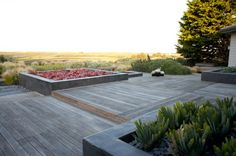 rooftop :: terraced decking + planter boxes