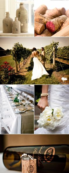 burlap runner {Inspired Style} Winery Wedding on http://www.engagedandinspired.com