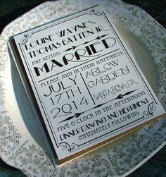 ✢ STYLE ✢ Great Gatsby | Great Art Deco invitations