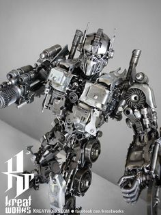 Recycled Metal Brave Robot Medium item by Kreatworks on Etsy, $450.00
