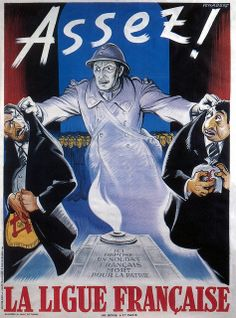 """Enough!"" French WWII propaganda poster against Jews and Freemasonry, 1942."