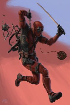 #Deadpool #Fan #Art. (Deadpool) By: Biram-Ba. (THE * 5 * STÅR * ÅWARD * OF: * AW YEAH, IT'S MAJOR ÅWESOMENESS!!!™)[THANK Ü 4 PINNING!!!<·><]<©>ÅÅÅ+(OB4E)