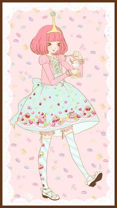Adventure Time Friends, Princess Bubblegum in Angelic Pretty!!