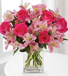 Resultado de imagen para combinacion de flores en color rosa