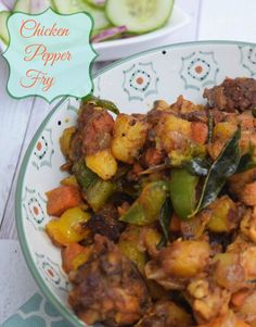 chicken pepper fry with vegetables