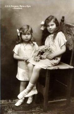 Grand Duchesses Kira (left) and Maria (right) Kirillovna of Russia