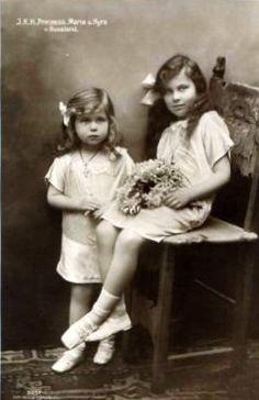Grand Duchesses Kira (left) and Maria (right) Kirillovna of Russia