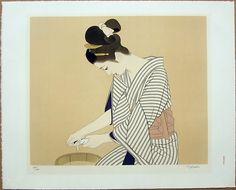 Tatsumi Shimura print Japanese Art Styles, Japanese Art Prints, Art Occidental, Geisha Art, Graphic Art Prints, Japan Painting, Classic Paintings, Asian Art, Vector Art