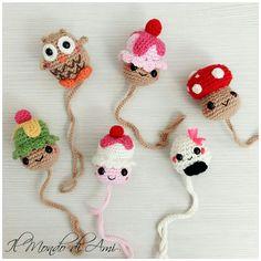 Un carico di.....Portaciucci!!!!! #cupcake #muffin #sweet  #portaciuccio #pacifier #ciuccio #pacifierholder #amigurumi #handmade #fattoamano #crochet #uncinetto #yarn #filato #kawaii #gufo #owl #funghetto #mushroom